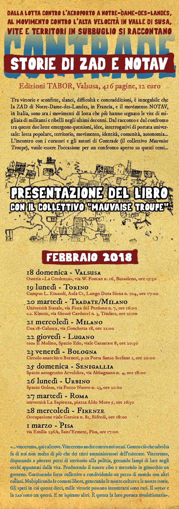 locandina tour Contrade