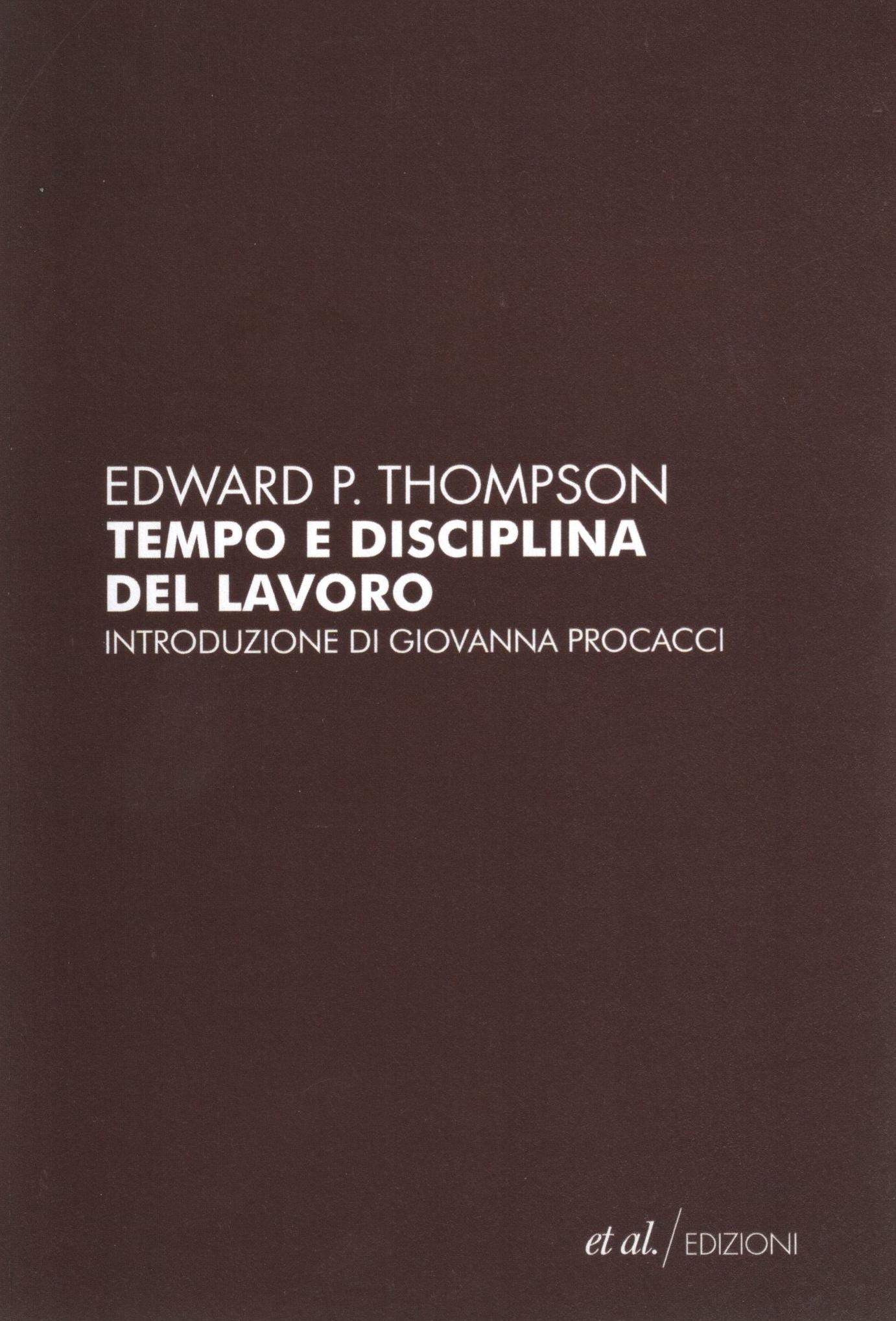 Tempo e disciplina del lavoro Book Cover